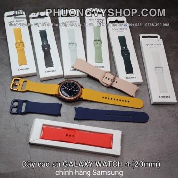 Dây cao su ZIN Galaxy Watch 4. (20mm - Ngàm cong)